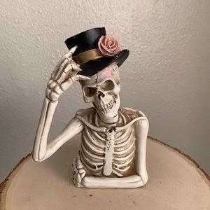 Ashland Top Hat Skeleton Halloween Decor